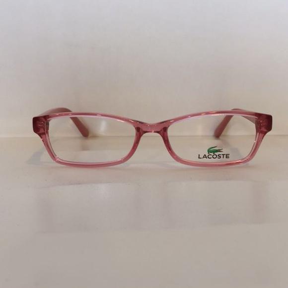 eeebd6a2a8ad Lacoste L3608 662 Crystal Pink Eyeglasses 48mm